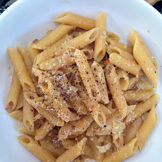 Penne with Creamy Ragout Sauce Recipe