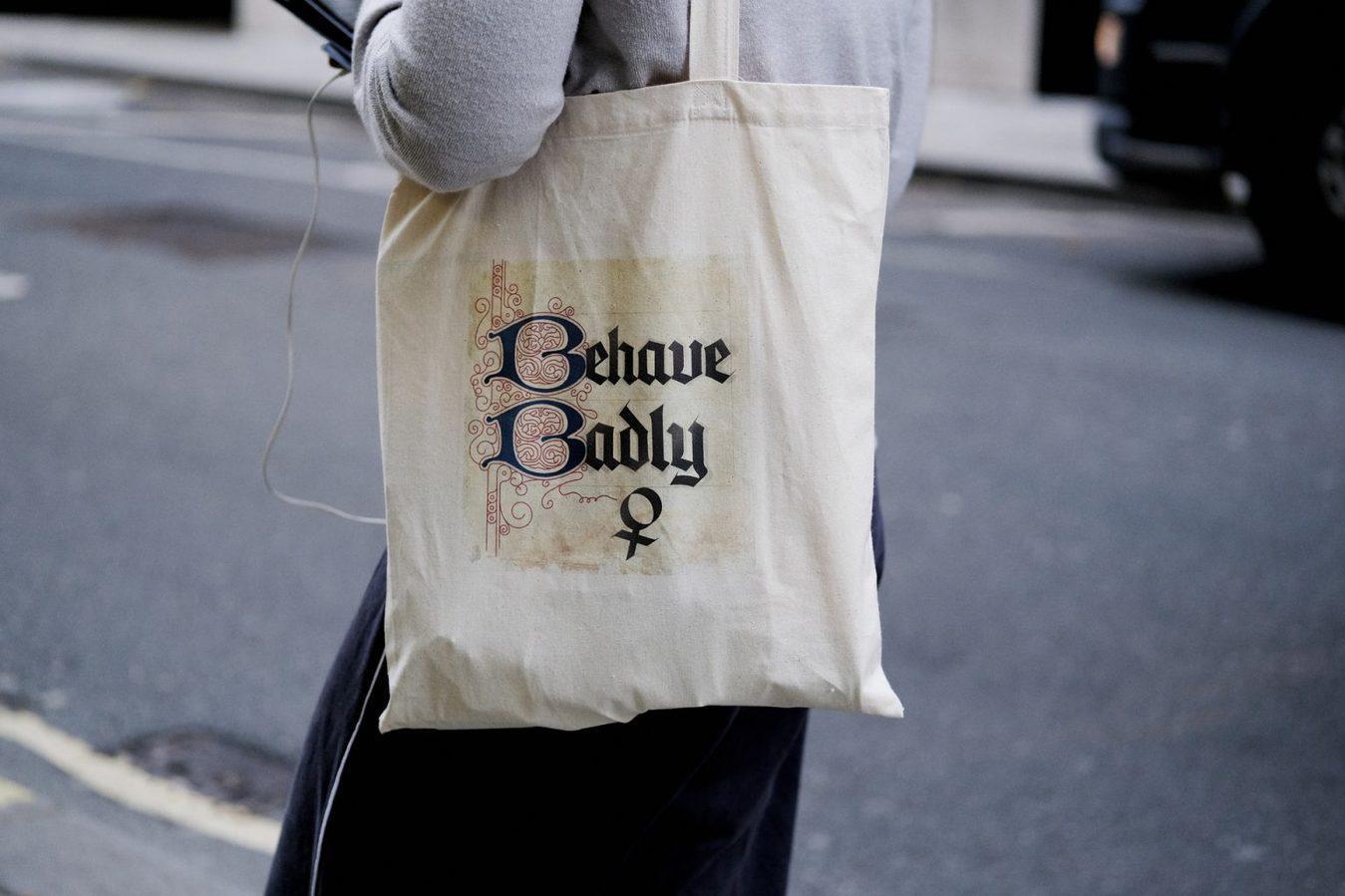 Behave Badly Tote Bag Print