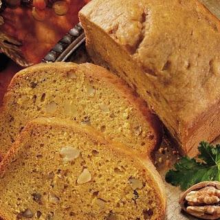 Bread Machine Pumpkin Spice Quick Bread.