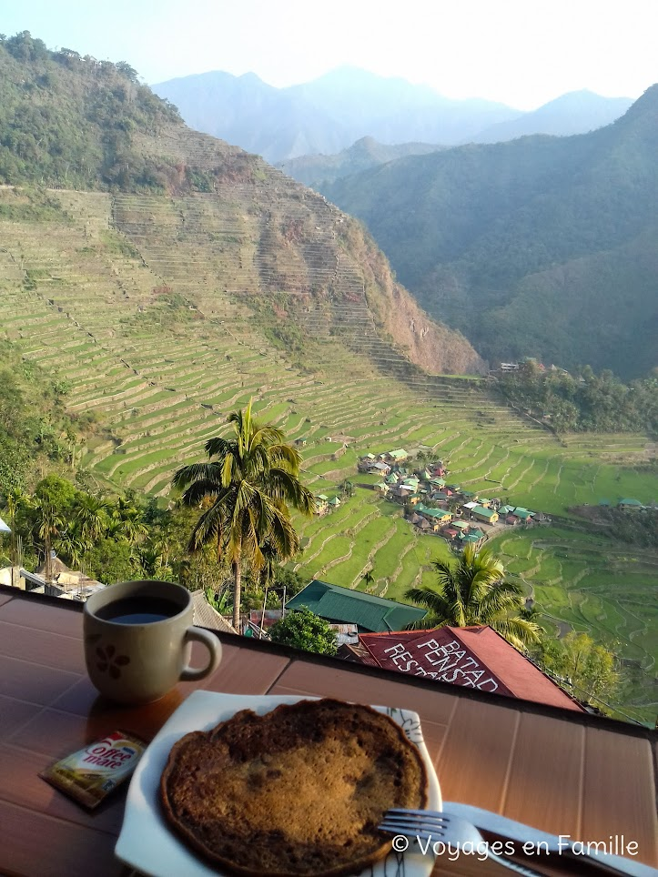 Batad, Pancake avec vue