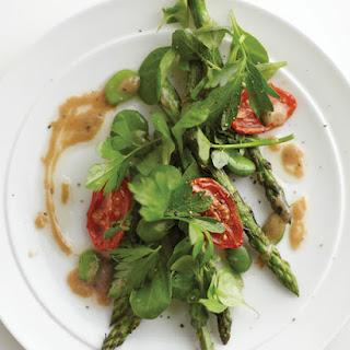 Green Salad with Asparagus, Fava Beans & Mustard