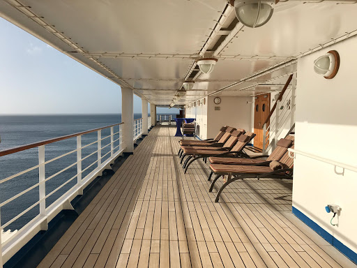 The main deck of Silver Spirit during a quiet time in the late afternoon.