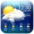 Real-time weather display&wind speed and direction apk