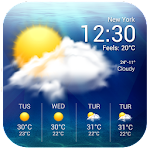 Real-time weather display&wind speed and direction Icon