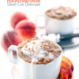 Slow Cooker Peaches and Cream Steel-Cut Oatmeal Recipe