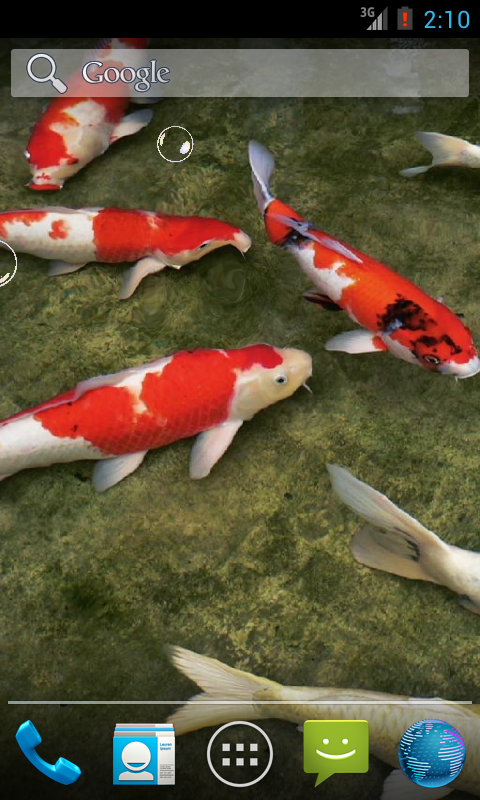 Koi fish hd 3d wallpaper android apps on google play for Koi 3d live wallpaper