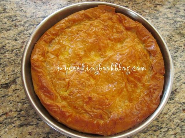Родопска баница с ориз и сирене (с готови кори)