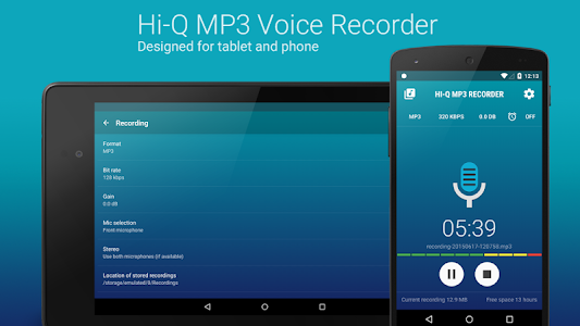 Hi-Q MP3 Voice Recorder (Pro) v2.1.1