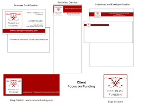 Photo: Created Brand Imaging Package for Focus on Funding - Logo, Business Cards, Letterhead/Envelopes, Panel Cards and Blog site