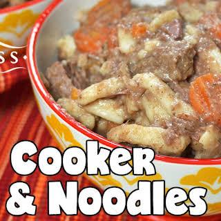 Slow Cooker Beef & Noodles.