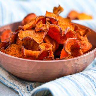 How to Make The Perfect Baked Sweet Potato Chips.