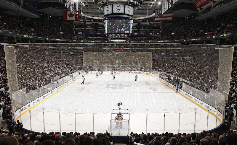 Photo: TORONTO, CANADA - FEBRUARY 21:  General view of the Air Canada Centre during NHL game action between the Toronto Maple Leafs and the New Jersey Devils February 21, 2012 at the Air Canada Centre in Toronto, Canada (Photo by Graig Abel/NHLI via Getty Images)