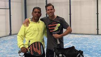 Marcelo y Paquito tras entrenar.
