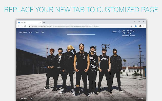 Kpop Monsta X Custom New Tab by freeaddon.com
