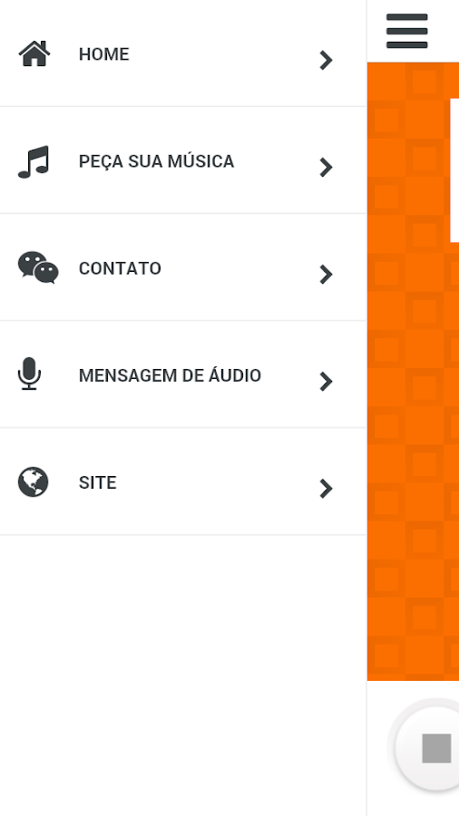 Rádio Seara Web: captura de tela