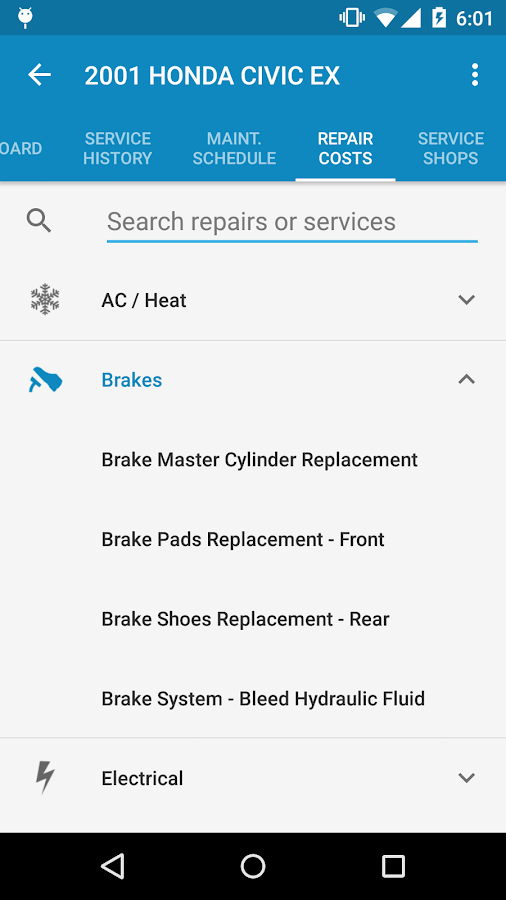 myCARFAX - Car Maintenance app- screenshot
