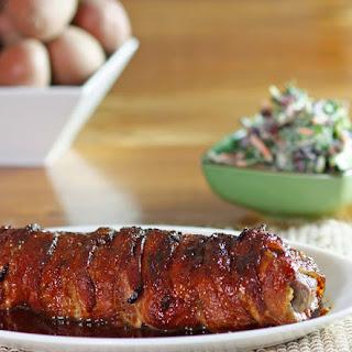 Bacon Wrapped Pork Tenderloin With Sauce Recipes.