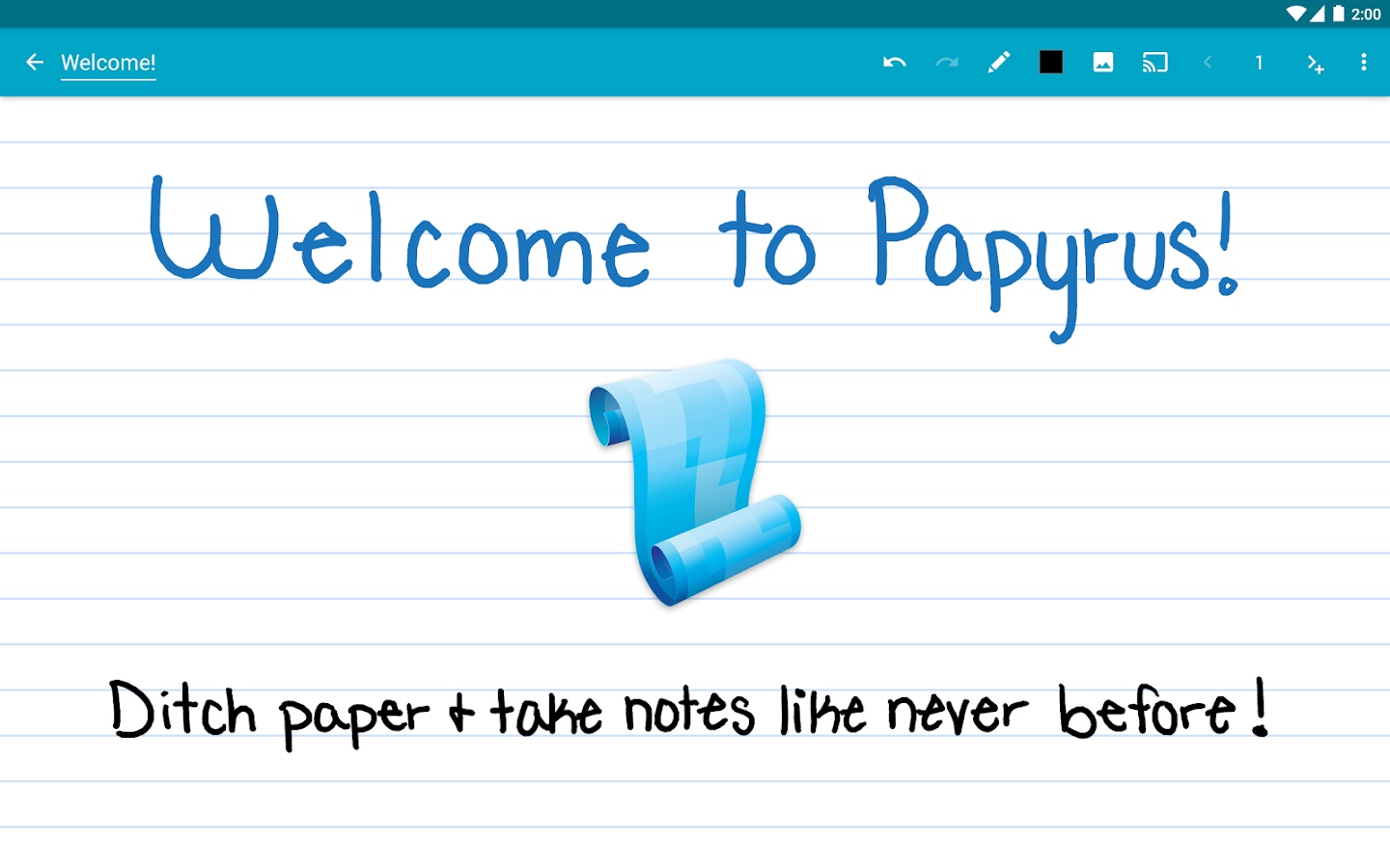 Papyrus - Natural Note Taking - screenshot