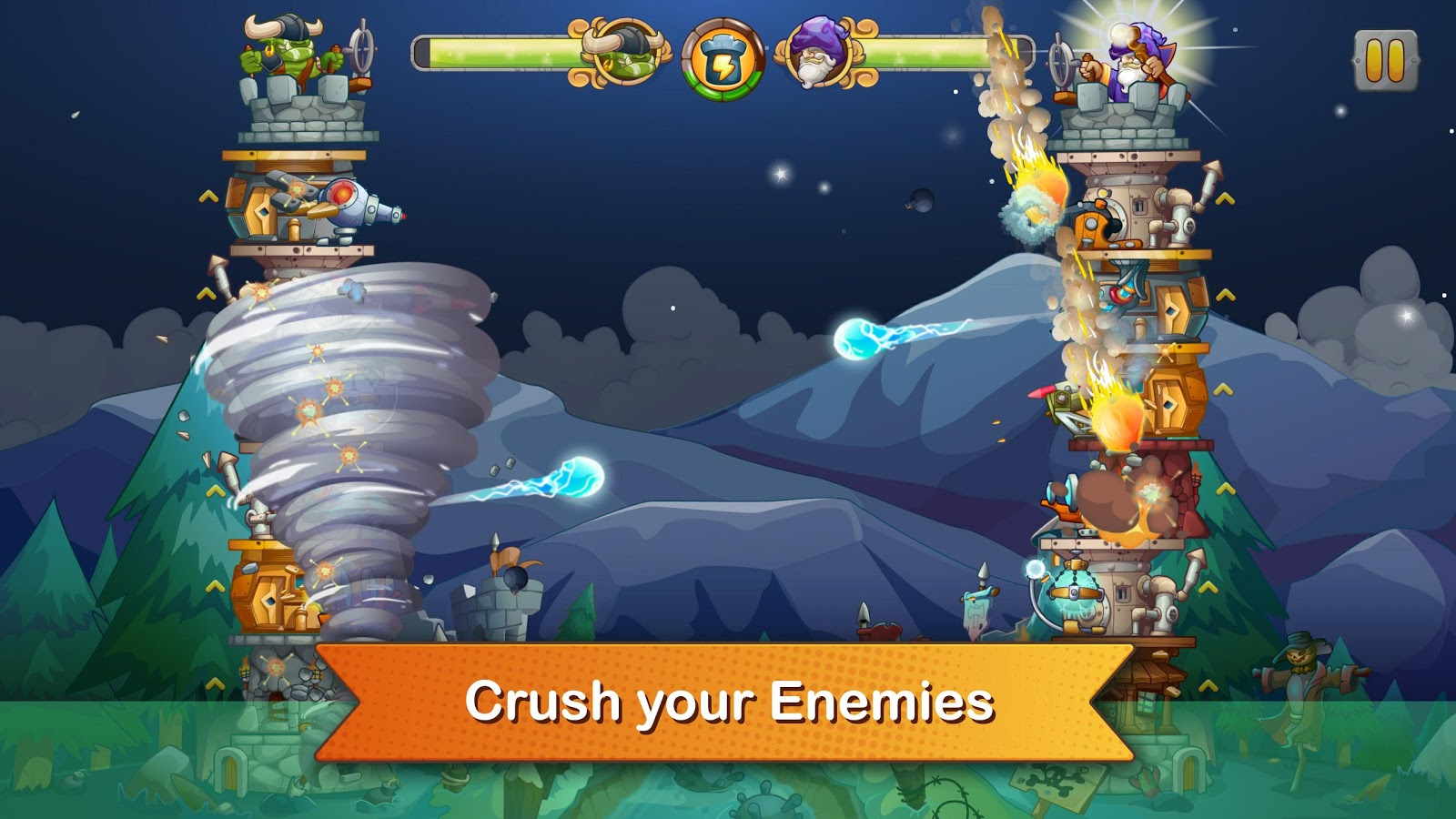 Tải game Tower Crush hack full tiền vàng cho Android