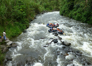 Photo: Inner-tubing on the Mindo River