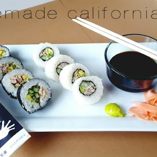 Homemade California Rolls.