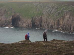 Photo: ... gaping sea caves ...