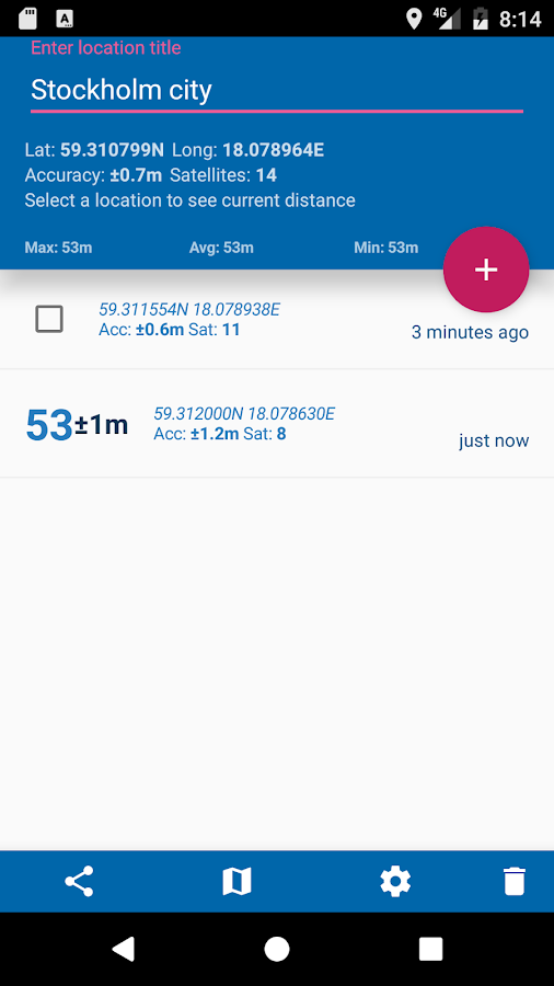 GPS Distance- screenshot