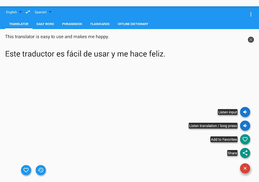 Learn with Talking Translator app (apk) free download for Android/PC/Windows screenshot
