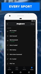 theScore: Live Sports News, Scores, Stats & Videos Screenshot