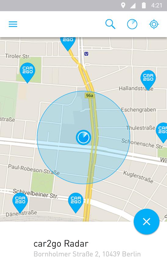car2go - screenshot