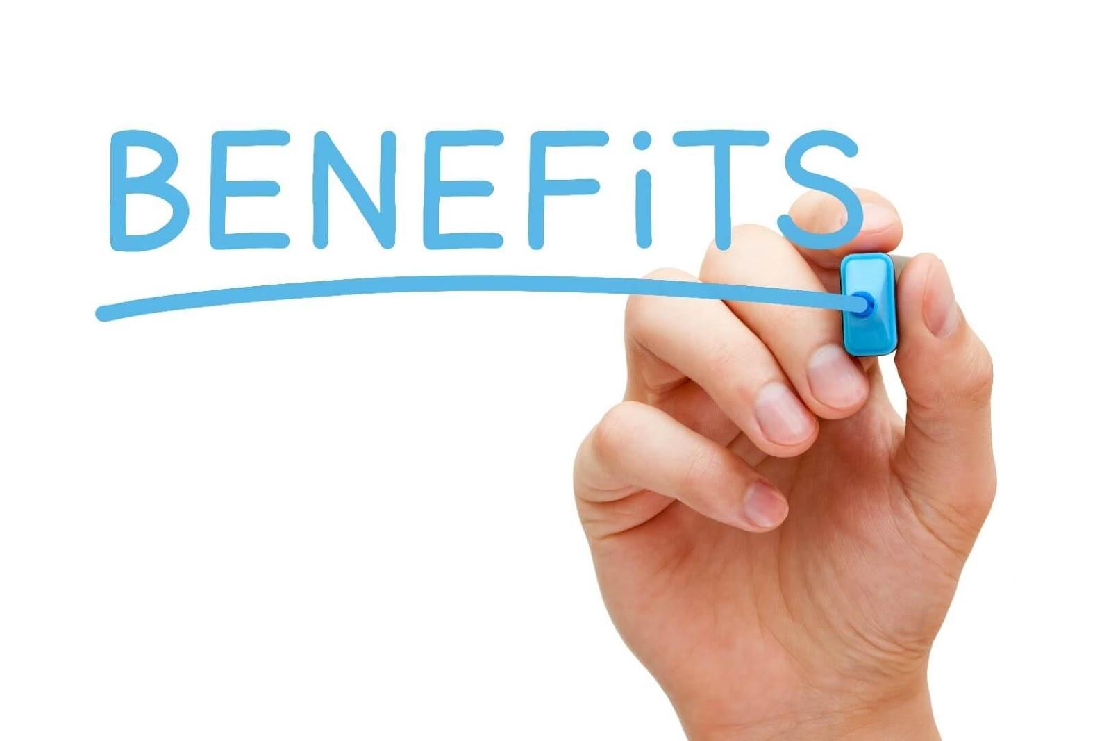 Benefits is written here.