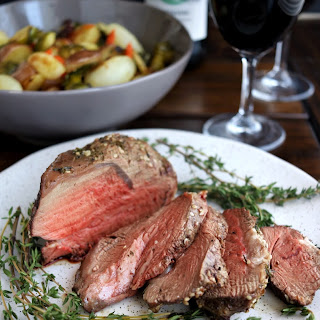 One-Pan Beef Tenderloin & Roasted Vegetables.