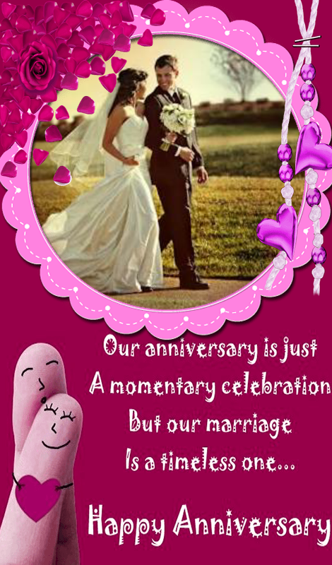 Happy anniversary photo frames online editing