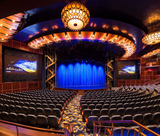 symphony-of-the-seas-Royal-Theater.jpg -  Make reservations early for some of the popular stage shows in the Royal Theater on decks 4 and 5 of Symphony of the Seas.