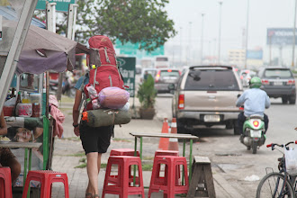 Photo: Apeidinėjant Bankoką.  While searching for Bankok bypass.