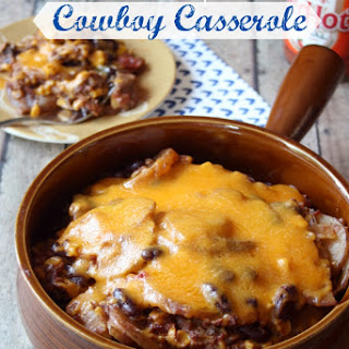 Cheesy Crockpot Cowboy Casserole Recipe
