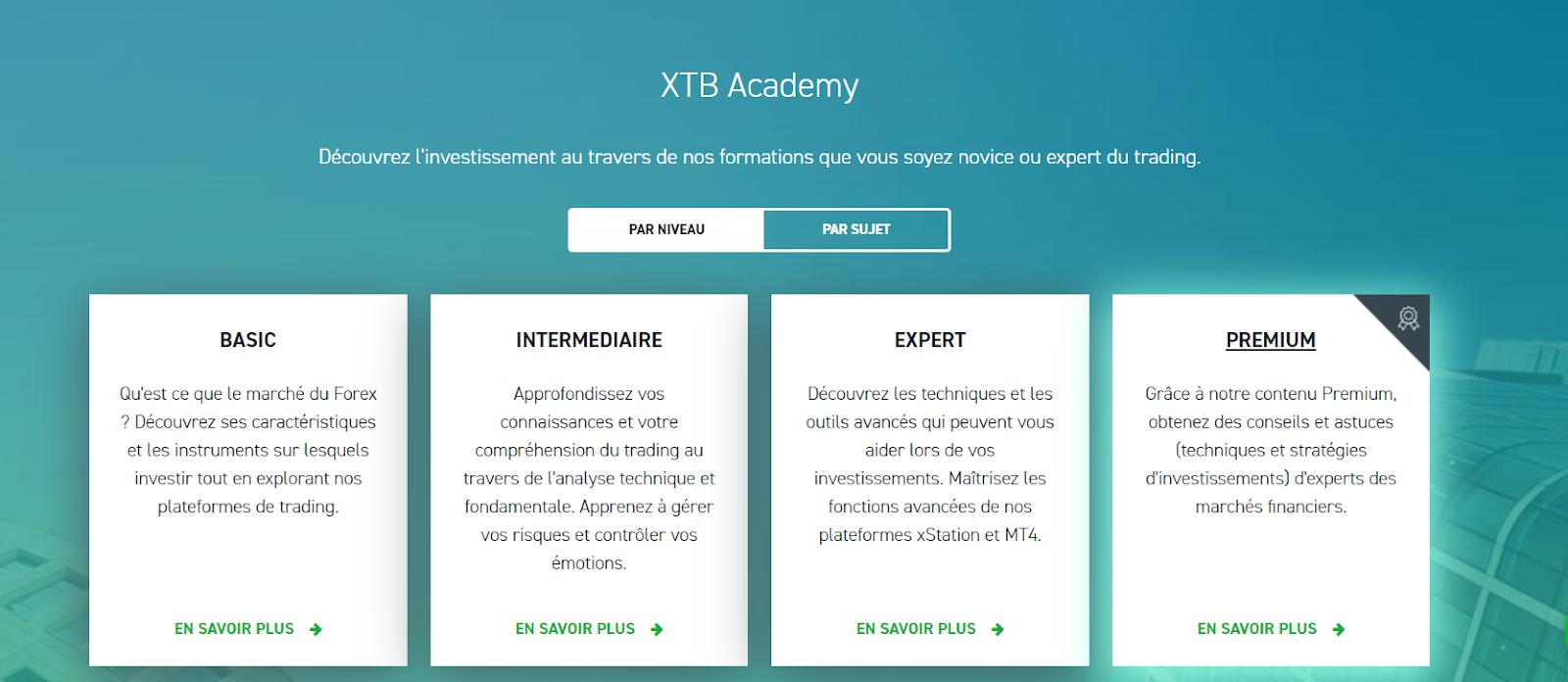 Broker XTB formation