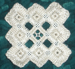 Photo: Completed 15 Sep 2007. This is the first hardanger piece I've done. I took a class today and was able to finish this in the 3 hours allotted and spend some money on a new chart and chat with the ladies at the store. It was good. I'm looking forward to my next project - a heart ornament.