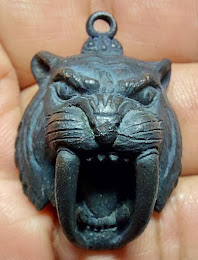 หน้ากากเสือเขี้ยวดาบ พระอาจารย์ชู เตชธัมโม  วัดทัพชุมพล จ.นครสวรรค์