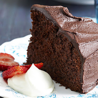 Chocolate Cake with Fudge Icing.