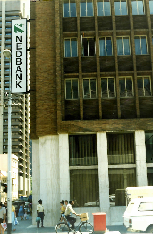 The Nedbank building in Pretoria where the Dutch embassy had an office to which Klaas de Jonge escaped.