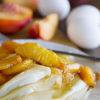 Simple Crepe Recipe with Peaches and Cream
