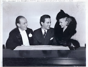 Photo: Fred Astaire, Hal Borne and Ginger Rogers