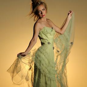 Elegance by ETImagez Photography - People Portraits of Women ( blonde. dress, elegant, sunset )
