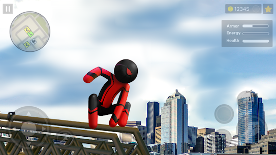 Spider Stickman Rope: Vegas Crime City Hero 3