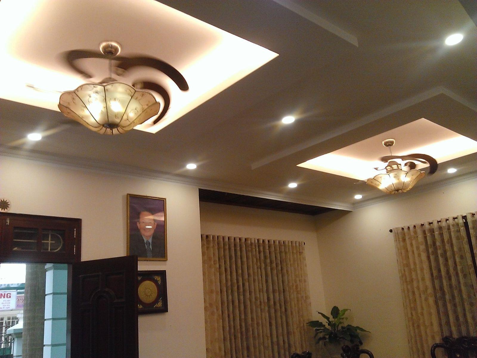 Chọn quạt trần theo diện tích phòng khách