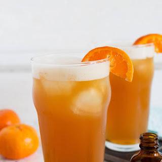 Orange Bourbon Beer Cocktail.