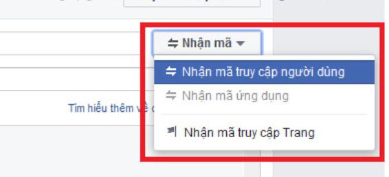 Hướng dẫn cách lấy token facebook