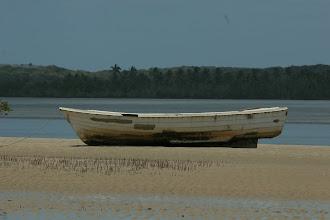 Photo: Pomene. Estuary (Flußmündung)