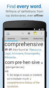 Screenshots of Dictionary for iPhone